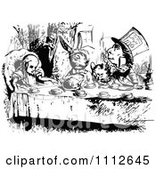 Clipart Alice At A Tea Party In Wonderland Royalty Free Vector Illustration