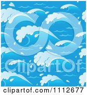 Clipart Seamless Blue Ocean Wave Background Pattern Royalty Free Vector Illustration