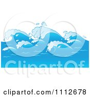 Clipart Blue Ocean Waves Royalty Free Vector Illustration