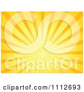 Clipart Burst Of Sun Rays Royalty Free Vector Illustration