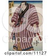 Zogahana Nadagoro Rikishi Sumo Wrestler Clipart Picture