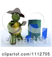 Clipart 3d Illegal Mp3 Music Download Hook Hand Tortoise Pirate With A Blue Folder Royalty Free CGI Illustration by KJ Pargeter