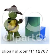 Clipart 3d Illegal Download Tortoise Pirate With A Blue Folder Royalty Free CGI Illustration by KJ Pargeter