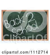 Clipart 3d Chalk Board With Back 2 School Text Royalty Free CGI Illustration