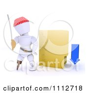 Clipart 3d Illegal Download White Character Pirate With A Yellow Folder Royalty Free CGI Illustration by KJ Pargeter
