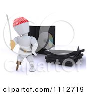 Clipart 3d Movie Or Software White Character Pirate With Illegal Bootleg Packaging Royalty Free CGI Illustration by KJ Pargeter