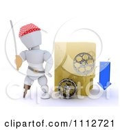 Clipart 3d Illegal Movie Download Pirate White Character With A Sword Folder And Film Reels Royalty Free CGI Illustration by KJ Pargeter