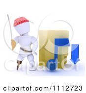 Clipart 3d Illegal Music Download Pirate White Character By A Folder Royalty Free CGI Illustration by KJ Pargeter