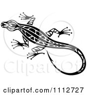 Clipart Black And White Tribal Lizard 10 Royalty Free Vector Illustration by Vector Tradition SM