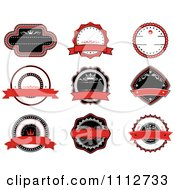 Red Black And White Retro Labels