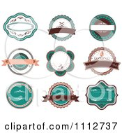 Retro Turquoise And Brown Restaurant Labels