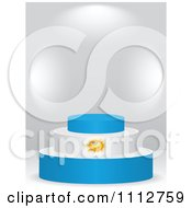 Clipart 3d Argentine Flag Podium On A Gray Background Royalty Free Vector Illustration by Andrei Marincas