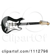 Clipart Black Fender Stratocaster Electric Guitar Royalty Free Vector Illustration