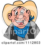 Clipart Happy Western Cowboy Royalty Free Vector Illustration