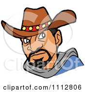 Clipart Tough Cowboy Royalty Free Vector Illustration by LaffToon