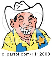 Western Sheriff Cowboy Laughing