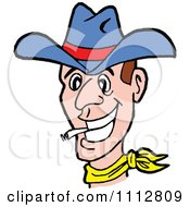 Western Cowboy Smoking A Cigarette