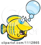 Clipart Talking Butterflyfish Royalty Free Vector Illustration