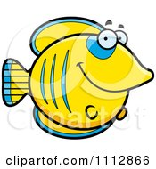 Clipart Happy Smiling Butterflyfish Royalty Free Vector Illustration by Cory Thoman