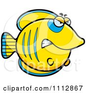 Clipart Angry Butterflyfish Royalty Free Vector Illustration by Cory Thoman