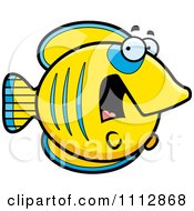 Clipart Scared Butterflyfish Royalty Free Vector Illustration