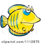 Clipart Bored Butterflyfish Royalty Free Vector Illustration by Cory Thoman
