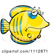 Clipart Crying Sad Butterflyfish Royalty Free Vector Illustration