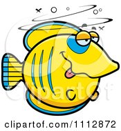 Clipart Drunk Butterflyfish Royalty Free Vector Illustration by Cory Thoman