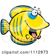 Clipart Drooling Hungry Butterflyfish Royalty Free Vector Illustration