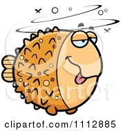 Clipart Drunk Blowfish Royalty Free Vector Illustration