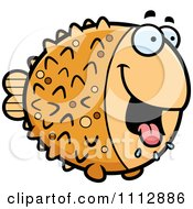 Clipart Drooling Hungry Blowfish Royalty Free Vector Illustration