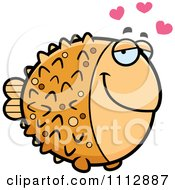 Clipart Blowfish In Love Royalty Free Vector Illustration