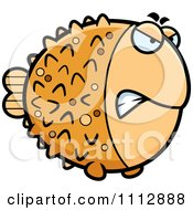 Clipart Angry Blowfish Royalty Free Vector Illustration by Cory Thoman