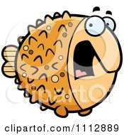 Clipart Scared Blowfish Royalty Free Vector Illustration