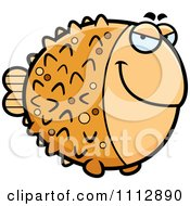 Clipart Sly Blowfish Royalty Free Vector Illustration by Cory Thoman