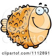 Clipart Happy Blowfish Royalty Free Vector Illustration by Cory Thoman