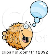 Clipart Talking Blowfish Royalty Free Vector Illustration