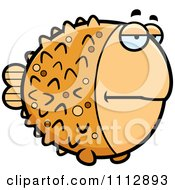 Clipart Bored Blowfish Royalty Free Vector Illustration
