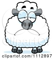 Clipart Depressed Sheep Royalty Free Vector Illustration