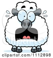 Clipart Frightened Sheep Royalty Free Vector Illustration by Cory Thoman