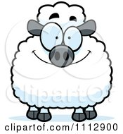 Clipart Smiling Happy Sheep Royalty Free Vector Illustration by Cory Thoman