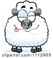 Clipart Drunk Sheep Royalty Free Vector Illustration