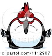 Clipart Depressed Woodpecker Bird Royalty Free Vector Illustration