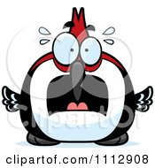 Clipart Frightened Woodpecker Bird Royalty Free Vector Illustration by Cory Thoman