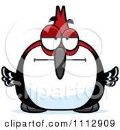 Clipart Bored Woodpecker Bird Royalty Free Vector Illustration by Cory Thoman