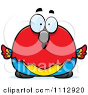 Clipart Surprised Scarlet Macaw Parrot Royalty Free Vector Illustration