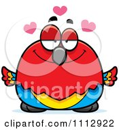 Clipart Scarlet Macaw Parrot In Love Royalty Free Vector Illustration