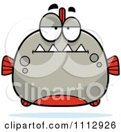 Clipart Bored Piranha Fish Royalty Free Vector Illustration by Cory Thoman