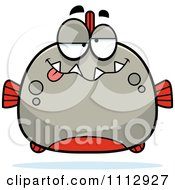 Clipart Dumb Piranha Fish Royalty Free Vector Illustration by Cory Thoman