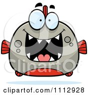 Clipart Excited Piranha Fish Royalty Free Vector Illustration